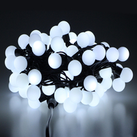 AC 110V 10M 100 LED Ball String Light RGB Color Fairy Lights With Tail Plug For Home Decoration Wedding Birthday Chrismas Party