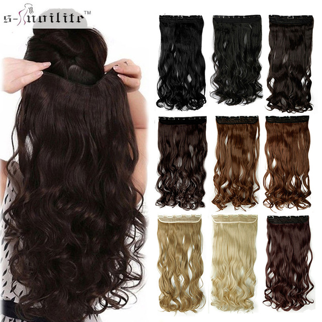 Aliexpress Buy Snoilite 17242729 Long Curly Synthetic Clip