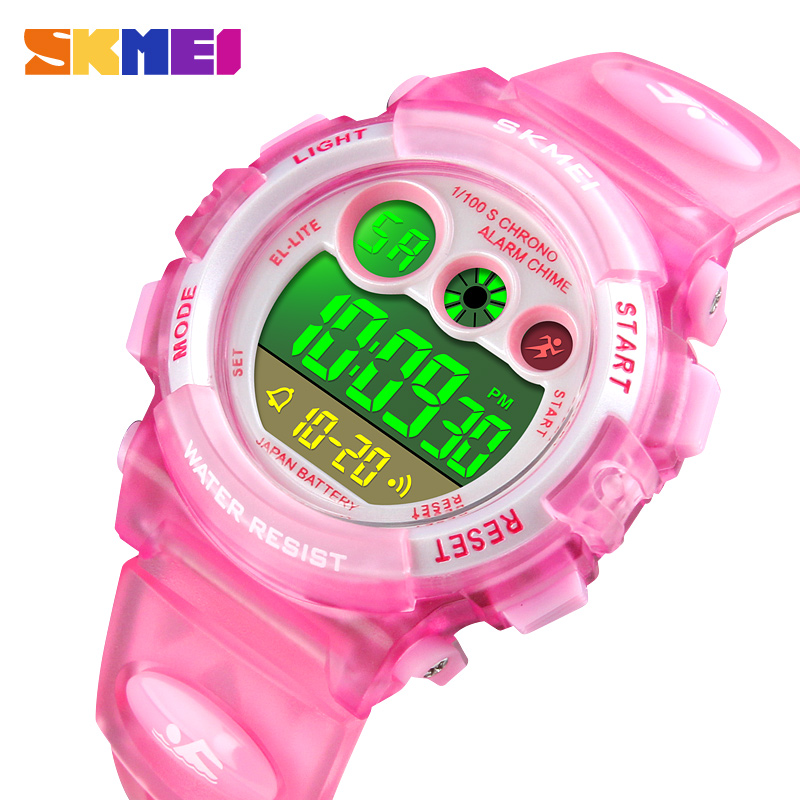 Children Boy Girl Watch Digital LED Watches For Kids Alarm Date Sports Electronic Digital Watch Dropship SKMEI Luxury Brand 2018