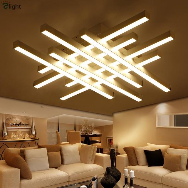Modern Geometric Metal Dimmable Led Ceiling Lights Lustre