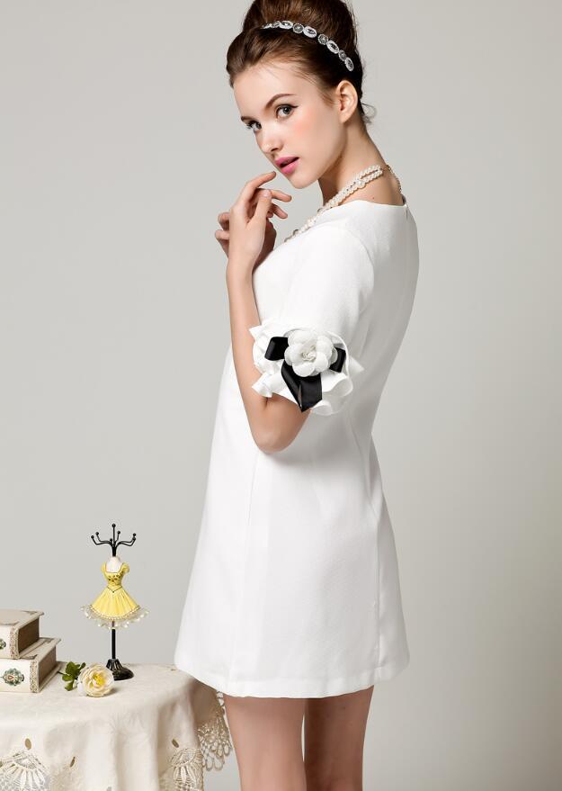 Haute Mini Blanc Nouvelles Femmes Courtes De Manches Parti 2018 Qualité Robes Moulantes Noir Robe Ol Festa Floral À ZZgSqBw