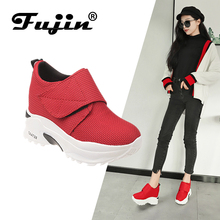 FUJIN 2019 Spring Fashion Women Casual Shoes Flats Female Sneakers Platform  for