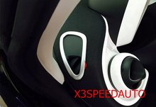 Free Shipping Chromed Interior Front UP Air Flow Vent Fender Decoraton Trim For Mercedes-Benz Smart Fortwo 2015