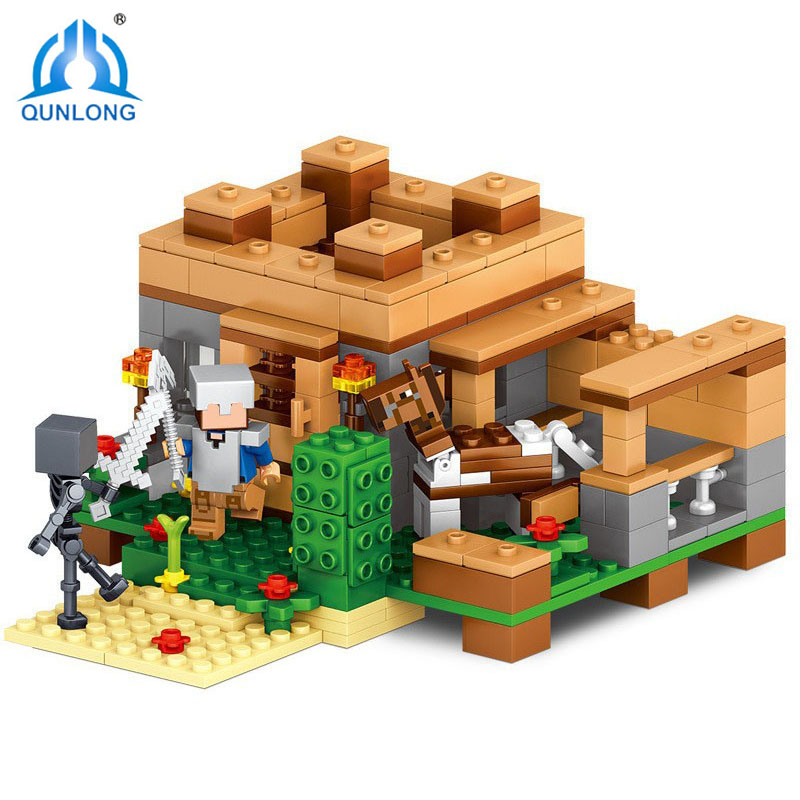Qunlong 253pcs Concentration Camp Building Block Compatible Legoings Minecrafted Brick DIY Toys For Kids Birthday Gift Toys