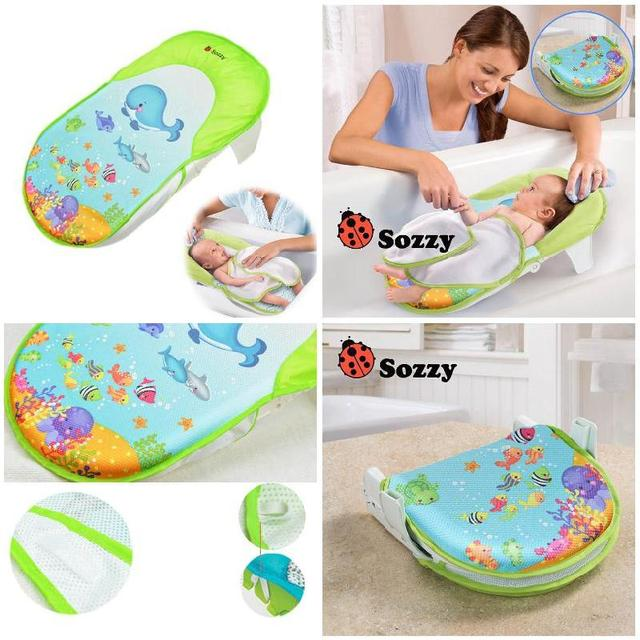 Sozzy Foldable Newborn Bath Tub/Bed/Pad Kids Shower Net Baths ...