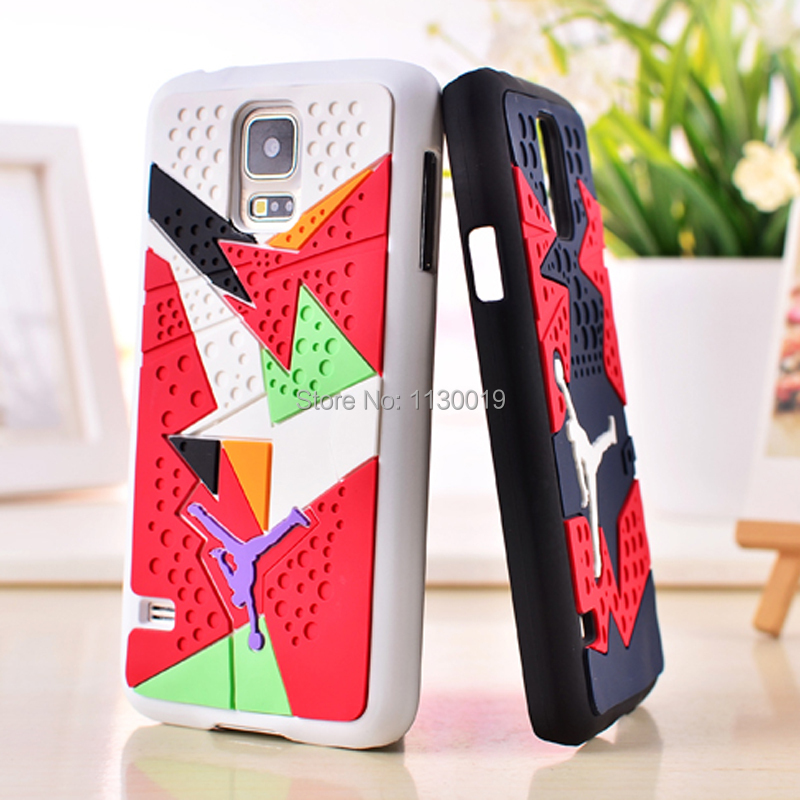 the best attitude b2526 6f7fb US $4.1 18% OFF|3D Air Jordan Shoe Sole PVC+Rubber Case For Samsung Galaxy  S5 G900, AJ jumpman23 Back Cover Phone Cases, 15 Colors, Free Ship-in ...