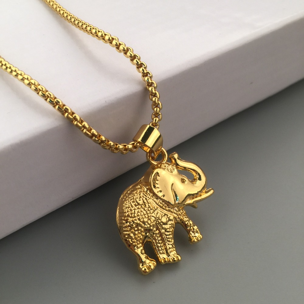 Necklace pendant styles images necklace pendant styles images iced out new golden elephant pendant boxing chain lucky charm jpg aloadofball Choice Image