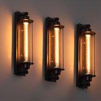 Industrial Wall Lamp Vintage Iron Wall Light E27 Edison/LED Bulb Indoor Cellar Bar Cafe Basement Corridor Wall Mounted Sconce