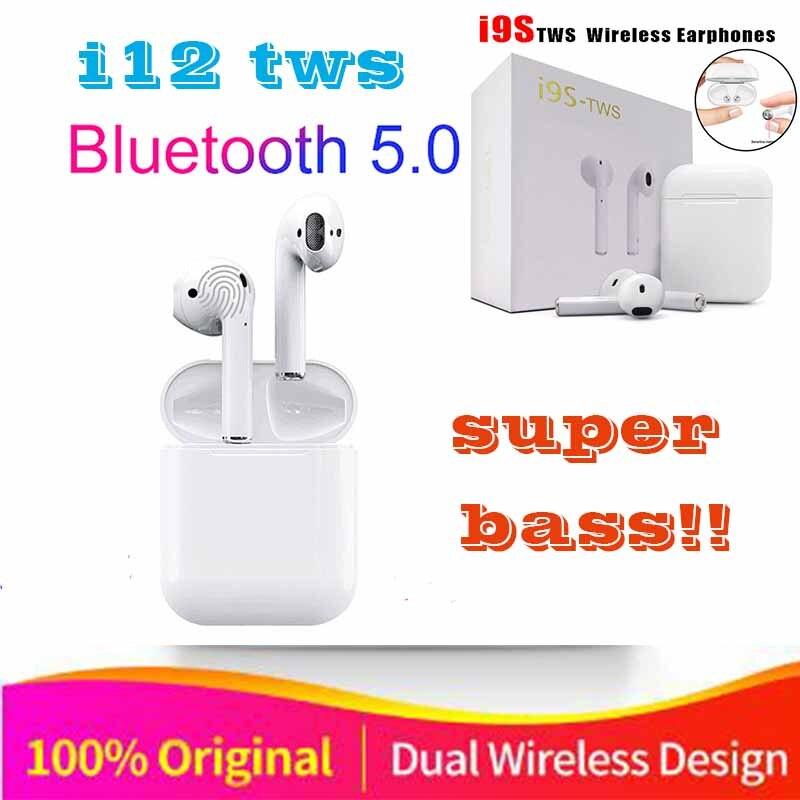 2019 neue Original i12 air TWS Drahtlose Bluetooth stereo 3D bass ohr knospe für alle zell pk i10 i15 i16 i13 i14 tws XY schoten LK TE9