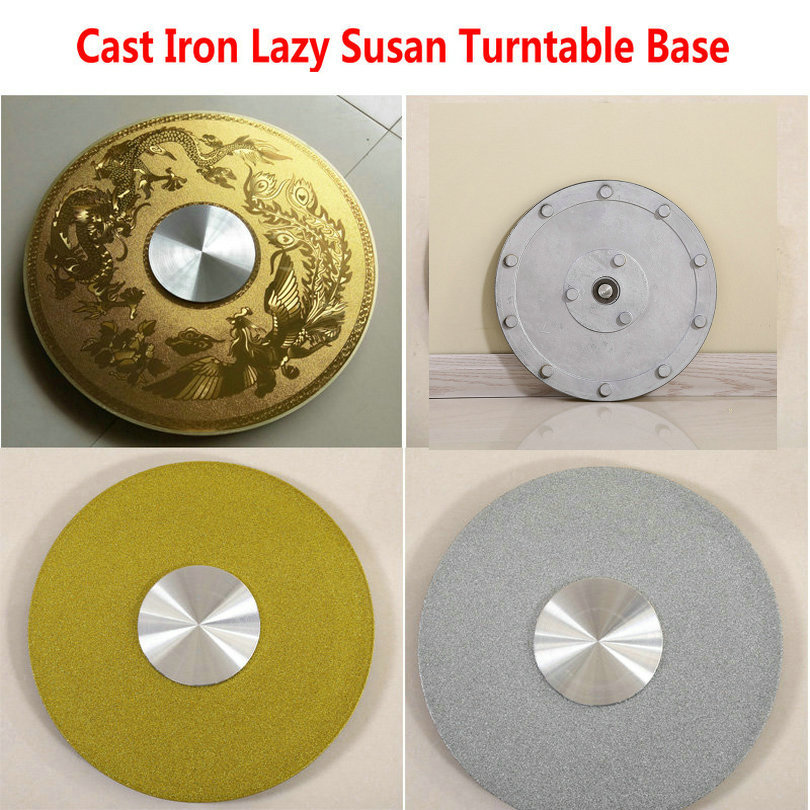 HQ IL01 Cast Iron Lazy Susan Turntable Base For Glass Table Swivel With Smooth Needle Roller Bearing