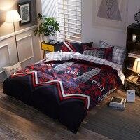 BEST.WENSD Pyramid Double Cotton bedding set king 3/4pcs duvet cover linen sheet kids Single Home textiles housse de couette