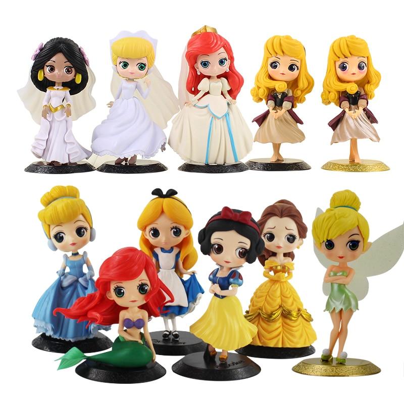 Model-Dolls Belle Princess-Figure-Toy Mermaid-Rapunzel Tangled Snow-White Q-Posket Sleeping Beauty