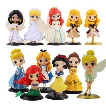 Q Posket Principessa Figura Giocattolo Da Neve Bianco Alice Cenerentola  Belle Ariel Mermaid Rapunzel Tangled Aurora Sleeping Modello di Bellezza  Bambole c0a39ac4df61