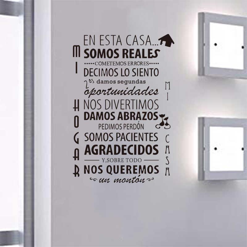 En sử dụng của ngôi nhà này hệ thống của Tây Ban Nha nhà quy định dán tường Vinyl bức tranh tường nghệ sĩ trang trí nhà miếng dán SP-018