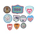 10Color Badge Accessory Iron Or Sew On Patch For Clothing Embroidery Backpack Patch Striped Clothes For Sticker Clothes