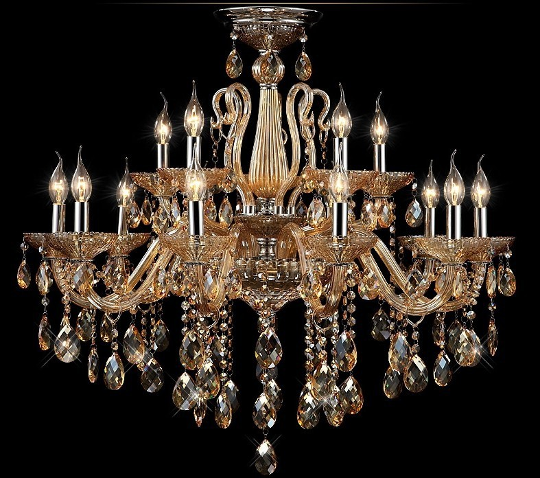 Antique Candle Chandeliers Champagne Crystal Chandelier: Free Shipping Champagne Candle Crystal Chandeliers,crystal