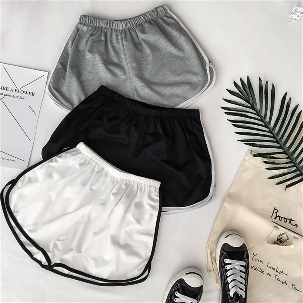 Simple Women Casual   Shorts   Patchwork Body Fitness Workout Summer   Shorts   Female Elastic Skinny Slim Fit Beach Egde   Short   2019 Hot