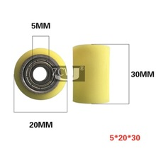 2pcs 5*20*30mm Dual Bearing Aluminum Core Coating PU Rubber Wheel Roller Guide Silence Wear Resistance wheel цены