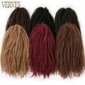VERVES афро курчавые плетеные волосы 18 дюймов синтетические плетеные крючком волосы для наращивания Marly 30 нитей/упаковка натуральный черный О...