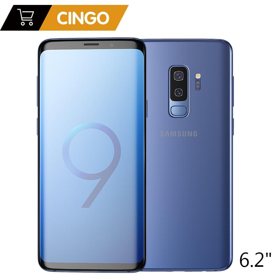 D'origine Samsung Galaxy S9 Plus 6.2 pouce Double Sim 6 gb RAM 64 gb/128 gb ROM Snapdragon 845 android 8.0 D'empreintes Digitales LTE Téléphone Portable