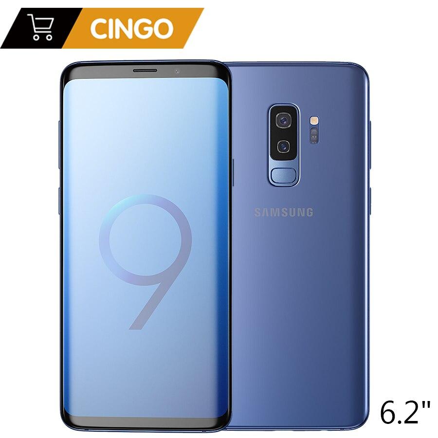 Original samsung galaxy S9 Plus 6.2 pulgadas dual sim 6 GB RAM 64 GB/128 GB ROM Snapdragon 845 android 8.0 fingerprint LTE teléfono móvil