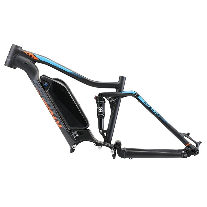 Vtt E vélo moto frmae SUV suspension cadre en alliage d'aluminium cross country cadres électriques choc vélo descente cadre