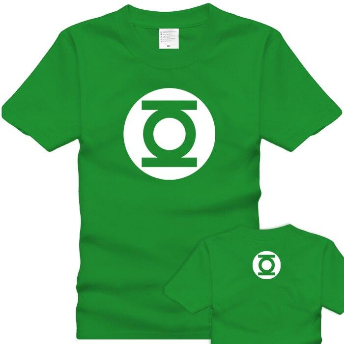 ECTIC Free shipping t-shirts green lantern T-shirt chromophous dbz02 short-sleeve The Big Bang Theory Sheldon tbbt cat
