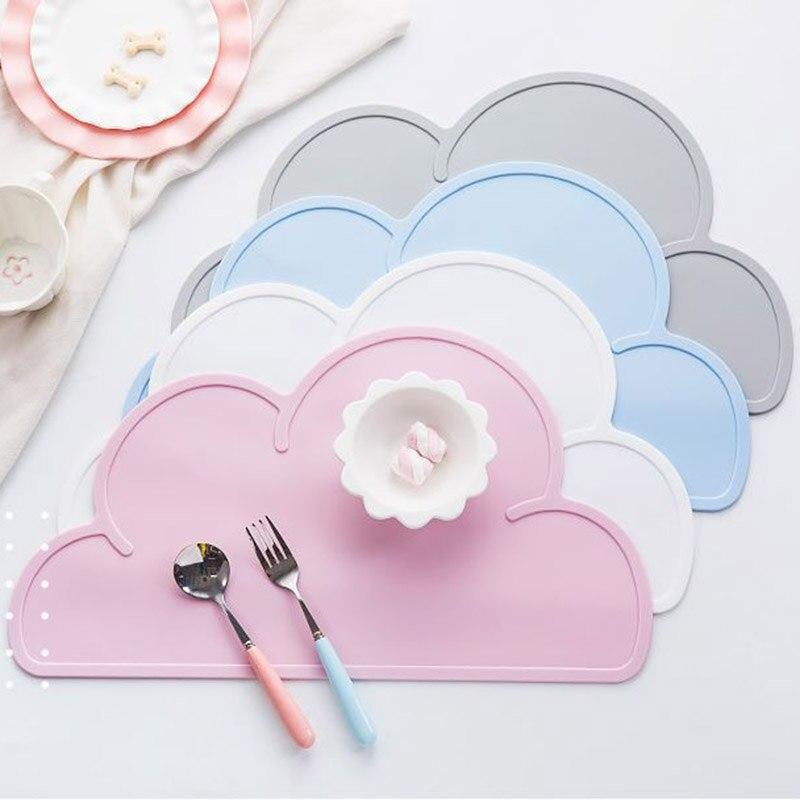 El diseño más caliente del bebé en forma de nube de silicona impermeable mantel estera de la barra creativa comida calor resistente al no-tóxicos cocina almohadillas