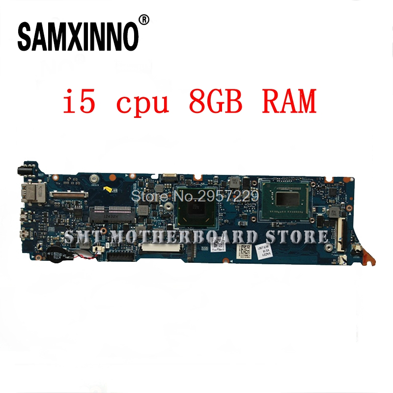 For Asus laptop motherboard UX31A UX31A2 with i5 CPU 8G RAM REV4.1 DDR3 1600 MHz SDRAM,HM76HD Graphics 4000 100% Tested well S 6