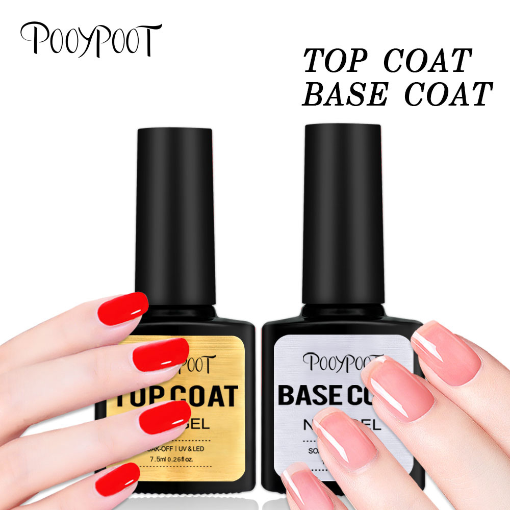 Pooypoot Top Base Coat Gel Nagellack 7.5ml UV LED Soak Off Nail - Nagel konst