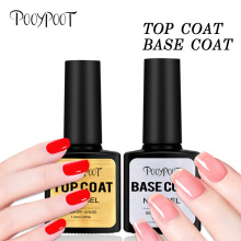 Pooypoot Top Base Coat Gel Nagellack 7.5ml UV LED Soak Off Nail Primer Builder Fingernail Gel Lack Transparent För Nail Art