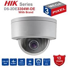 Hik Original PTZ IP Camera DS-2DE3304W-DE 3MP Network Mini Dome Security Camera 4X 2.8~12mm Optical Zoom Support P2P Remote View цена в Москве и Питере