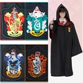 High Quality Children And Adult Size Harry Potter Cosplay Costume Gryffindor Hufflepuff Ravenclaw Slytherin Cloak Robe + Tie Set