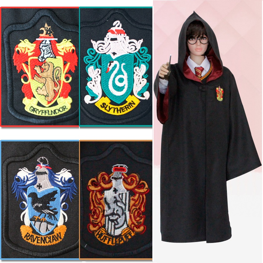 haute qualit enfants et adulte taille harry potter cosplay costume gryffondor poufsouffle serdaigle serpentard cape