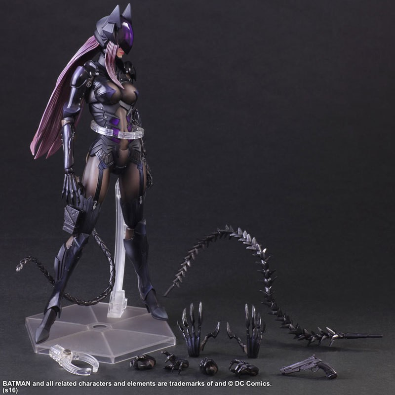 Catwoman Action Figure Playarts Kai Collection Model Anime Toy Movie Bat Man Play Arts Kai Catwoman 280mm iron man action figure play arts kai the avengers grey ironman pvc toy 28cm anime movie model iron man playarts kai superhero