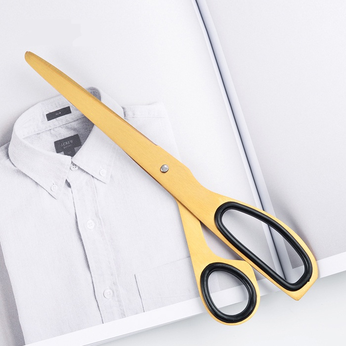 7.7 Inch Gold Scissors Straight 197mm Cutting Scissors Utility Scissors Diy Crafts Office Tailor Cutting Tool Tijeras