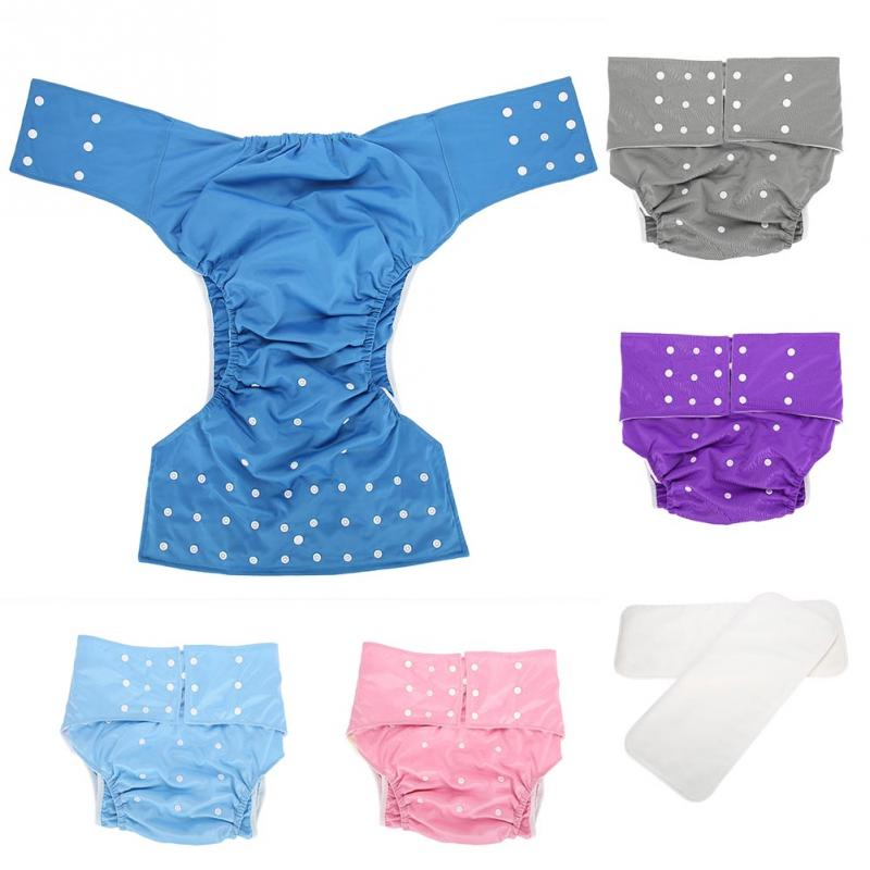 Washable Adult Pocket Nappy Cover Adjustable Reusable Diaper Cloth Adult Diaper Pants Old People Incontinence Pants Underwear free shipping fuubuu2202 blue l 1 pul pull on pants adult diaper incontinence pants pocket diapers wasserdichte atmungsaktive