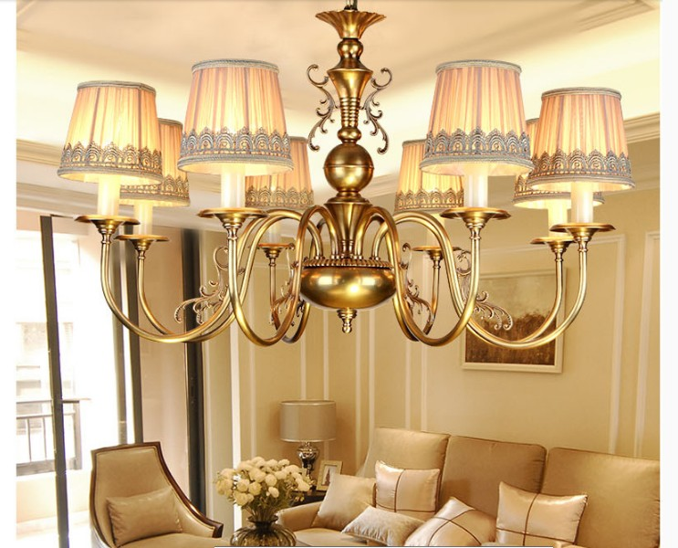 Free Shipping Nordic European Brass Antique Hanging Lamp Luxurious Nordic Copper Pendant Lamp Lustre Suspension Home LightingFree Shipping Nordic European Brass Antique Hanging Lamp Luxurious Nordic Copper Pendant Lamp Lustre Suspension Home Lighting