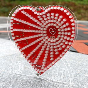 Image 5 - zirrfa New green heart shaped diy kit lights cubeed gift ,led electronic diy kit