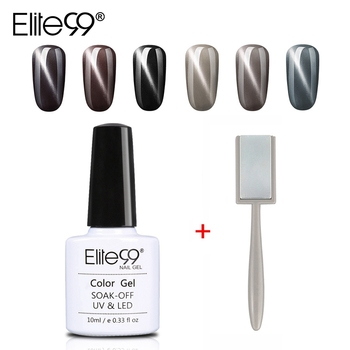 Elite99 10ml Grau Cat Eye Gel Mit Magnet Stick 3D Magnetische UV LED Gel Nagellack Semi Permanent Nagel gel Lack Nagel Kunst Gel