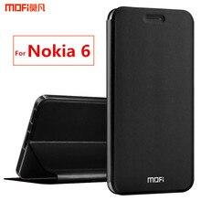 Для Nokia 6 Чехол для Nokia 6 флип чехол MOFI оригинальная подставка держатель полное покрытие корпуса Капа Coque принципиально для Nokia 6 5.5″