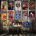 [Mike86] гараж Pin up Lady Route66 Оловянная вывеска художественное украшение стены Дом Кафе бар Винтаж Металл ремесло FG-126 - фото