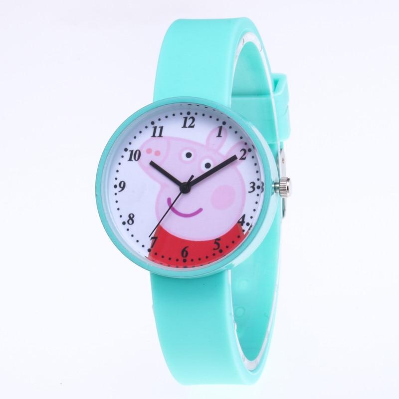 New Hot Śliczne Świnka Peppa Cartoon Kobiet Zegarek Moda Silikonowy - Zegarki damskie - Zdjęcie 1