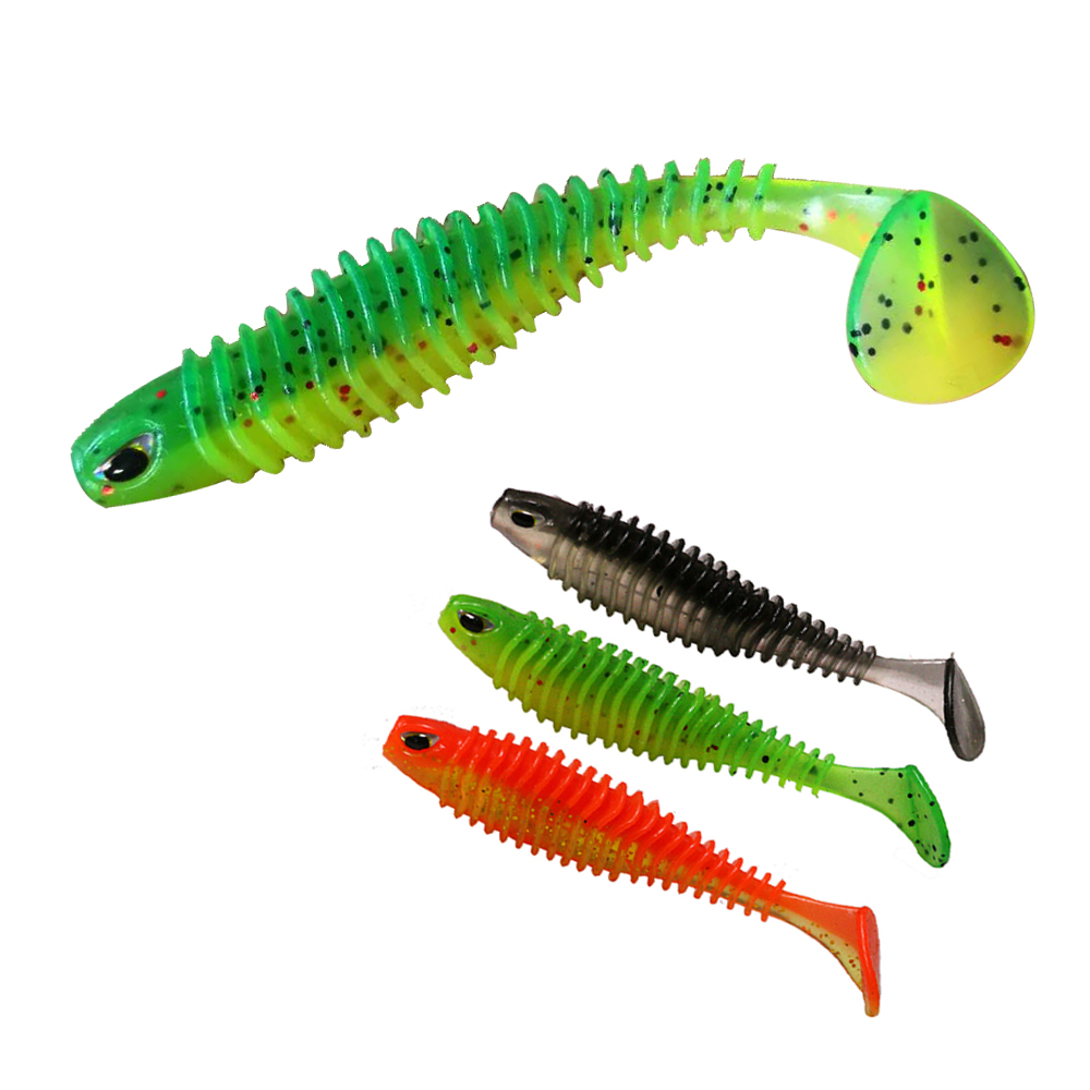 JonStar 5pcs/lot soft bait 8cm/4.7g 11cm/9.5g soft lure ripper shad fishing lure silicon bait wobbler for pike bass fishing