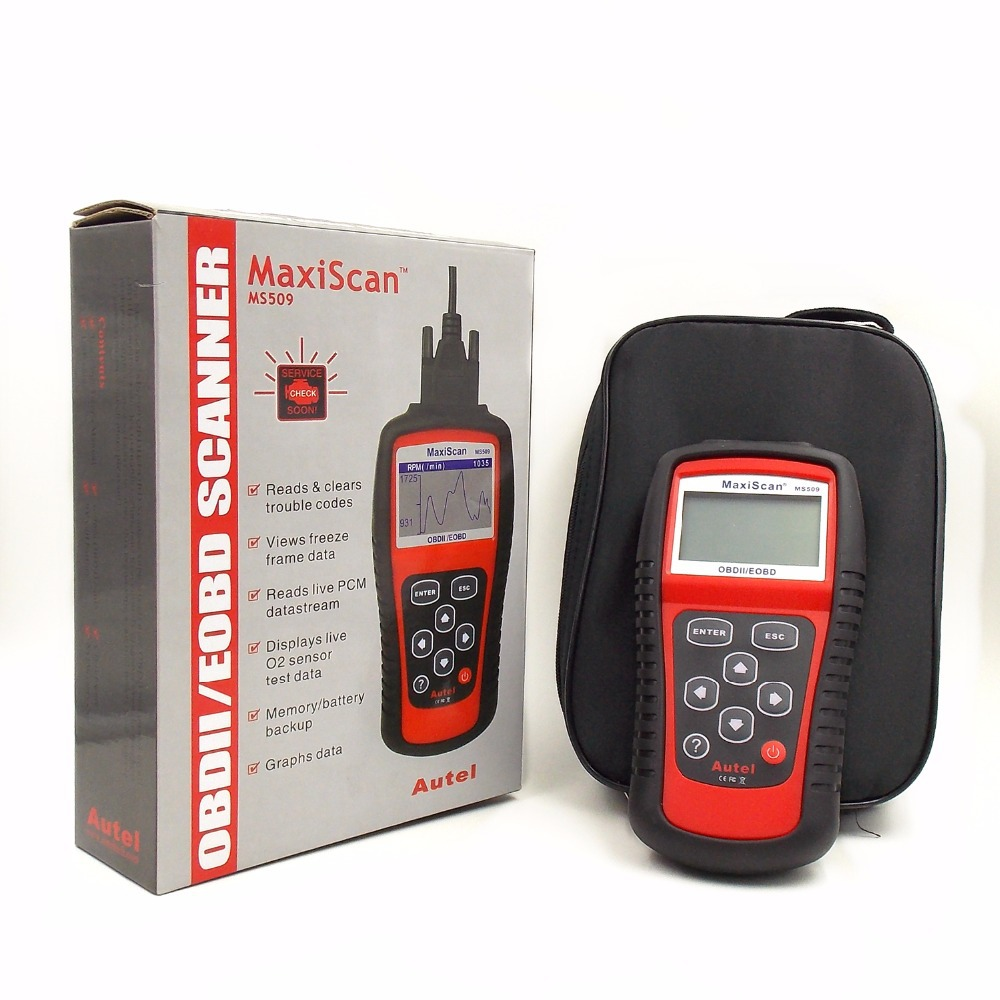 Autel MaxiScan MS509 OBDII/EOBD наиболее экономичный автоматический считыватель кодов для США/Азии/Европы автомобильный детектор диагностический инстр...