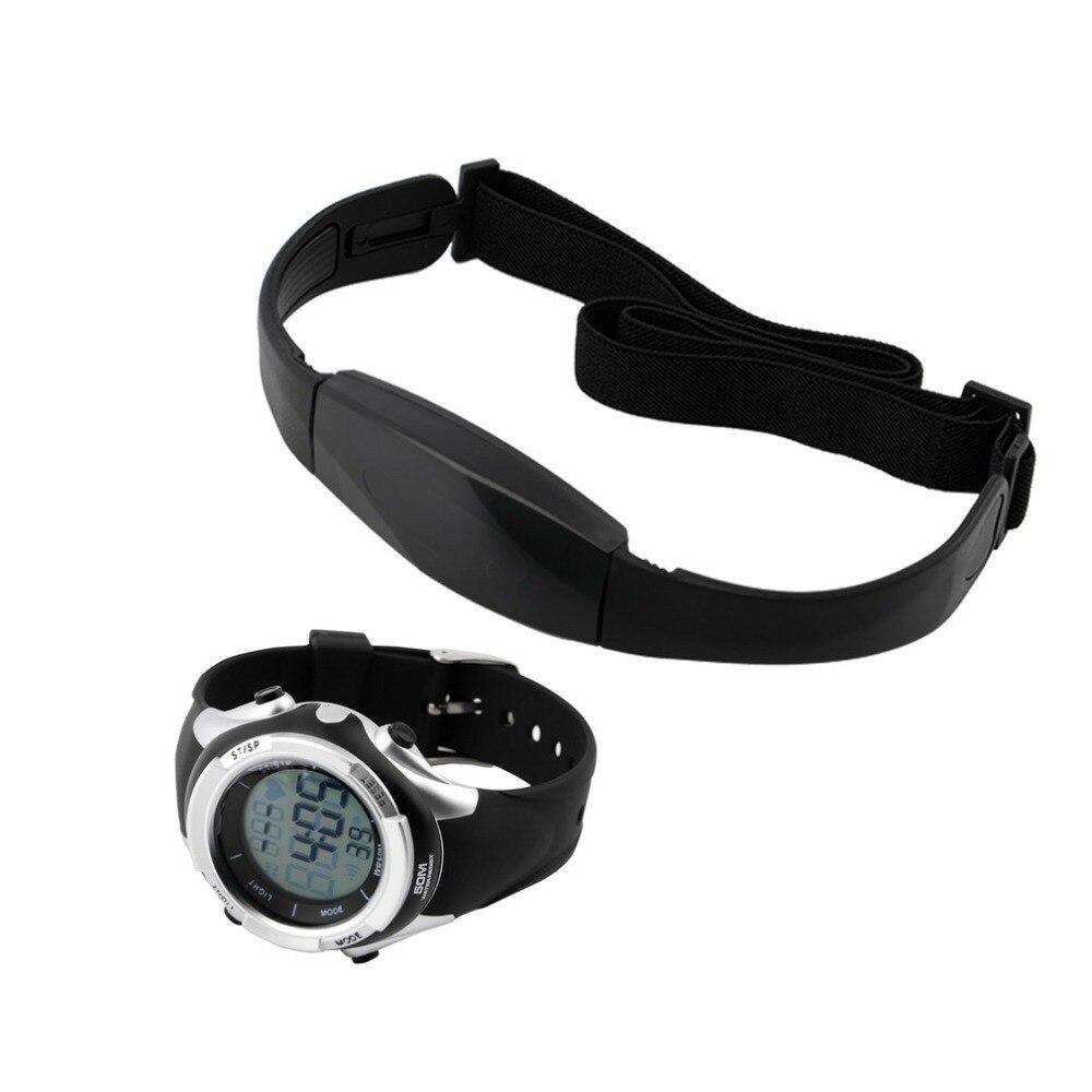 1 Satz Brust Sender Strap + Uhr Outdoor Radfahren Sport Fitness Wireless Heart Rate Monitor Reloj Inteligente Relogio Masculino GläNzend