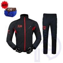 Long Sleeve Fishing Clothing Pants Coat Set Men Sunproof Jacket Waterproof Breathable Jersey Trousers for Fishing Hiking Camping