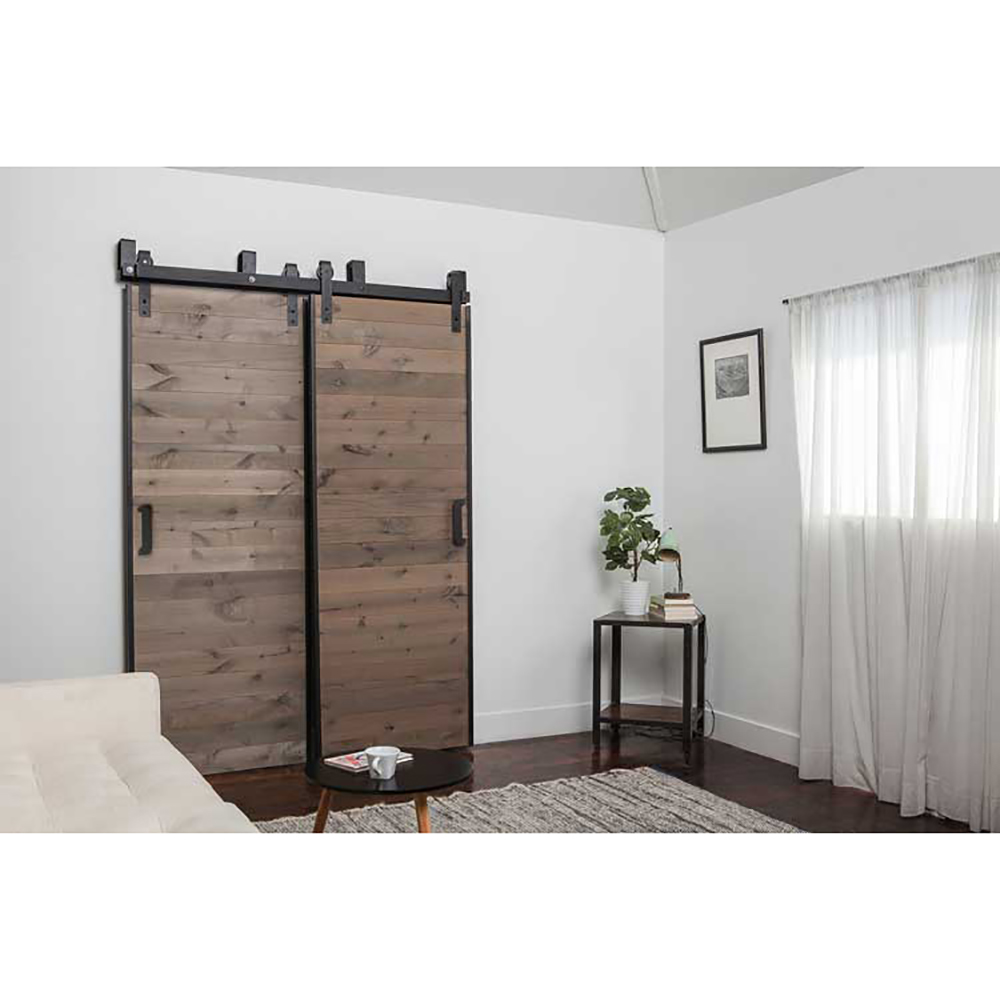 58ft new listing domestic sliding barn wood door hardware top quality steel country style black barn door hardware track set
