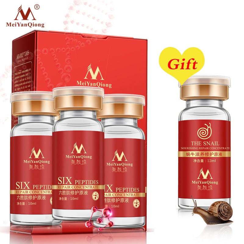 Buy 3 Get 1 Gift Face Care Anti-Aging Argireline Essence Firming Skin Nourishing Serum Face Lifting Anti-Wrinkle Skin Care