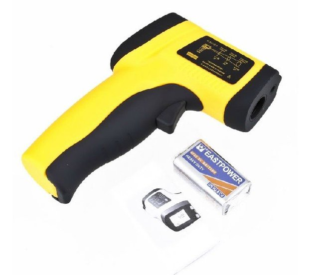 Free Shipping Special Non-Contact IR Infrared Thermometer Laser Point GM550 -50-550C 12:1 yellow